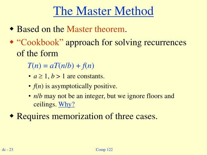 The Master Method