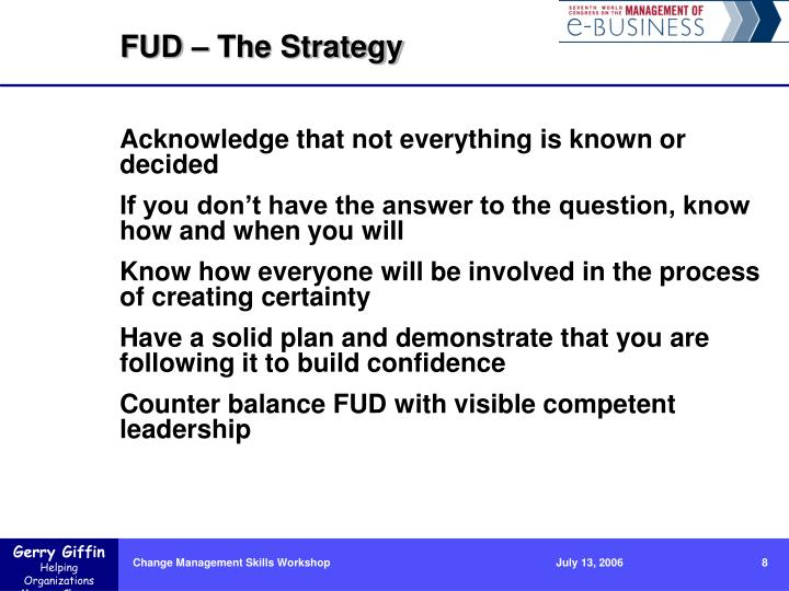 FUD – The Strategy