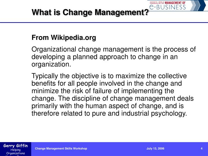 What is Change Management?
