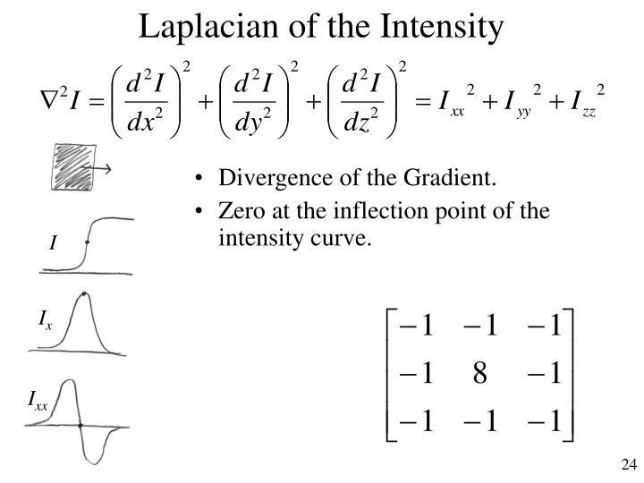 Laplacian of the Intensity