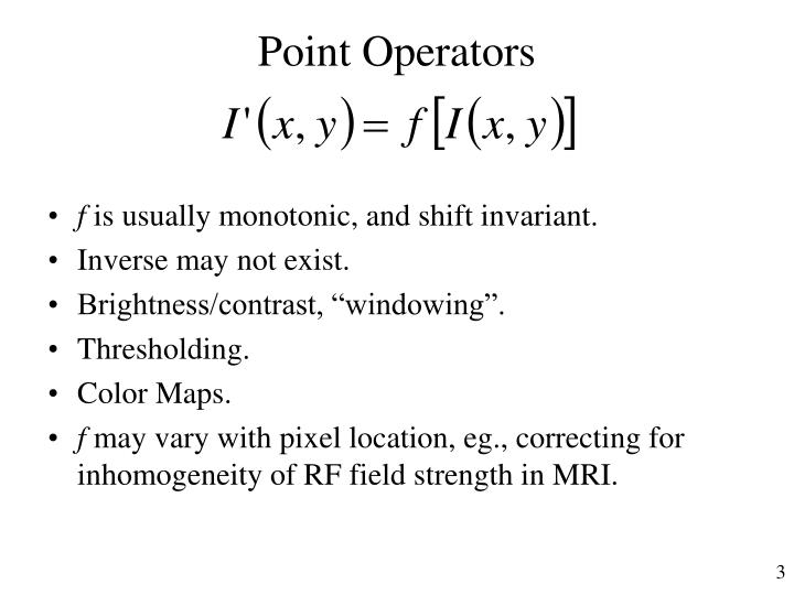 Point Operators