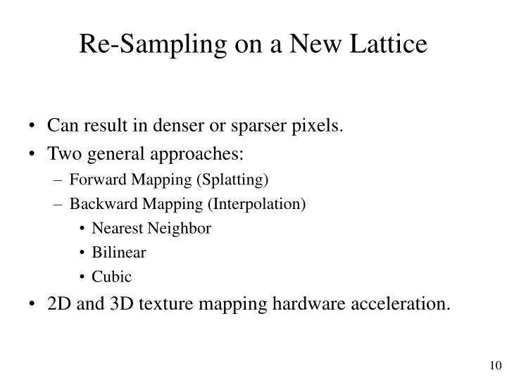 Re-Sampling on a New Lattice