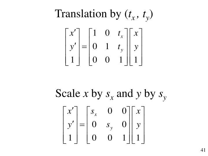 Translation by (