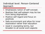 individual level person centered approach