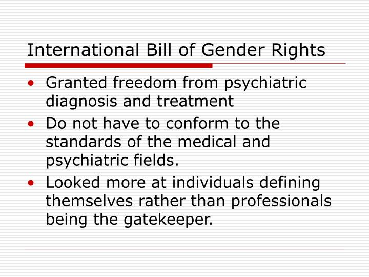 International Bill of Gender Rights