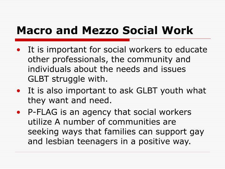 Macro and Mezzo Social Work