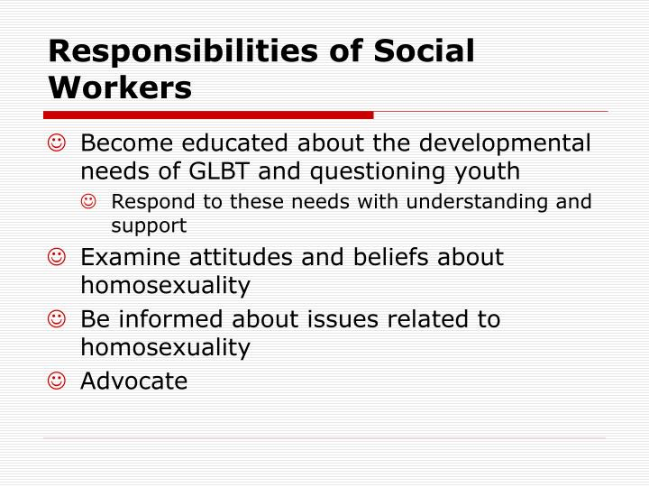 Responsibilities of Social Workers