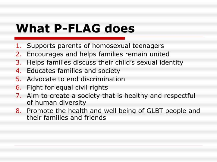 What P-FLAG does