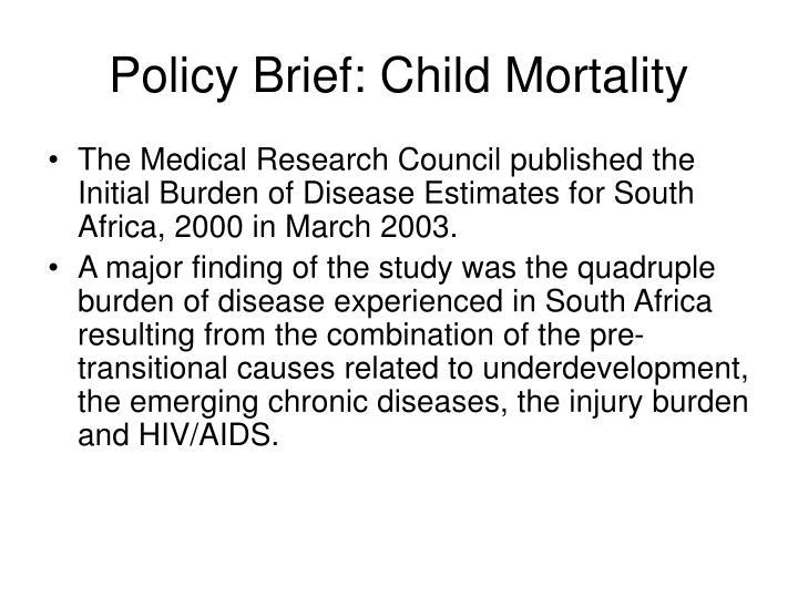 Policy Brief: Child Mortality