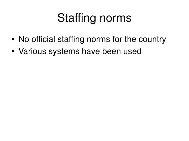 Staffing norms
