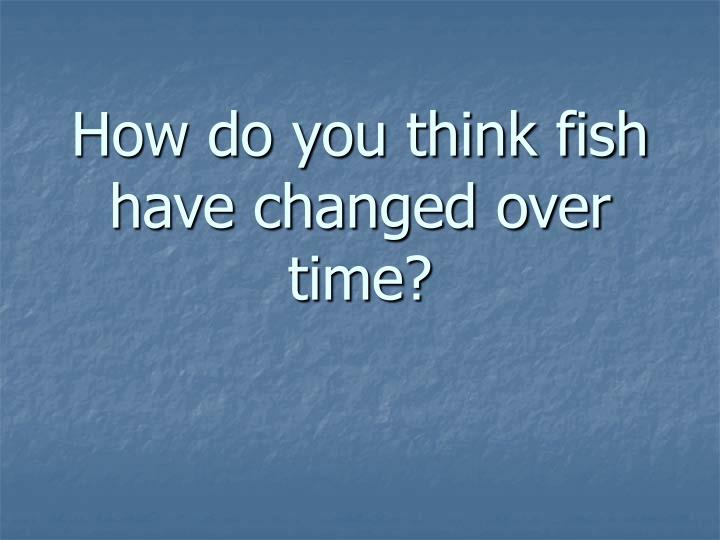 How do you think fish have changed over time?