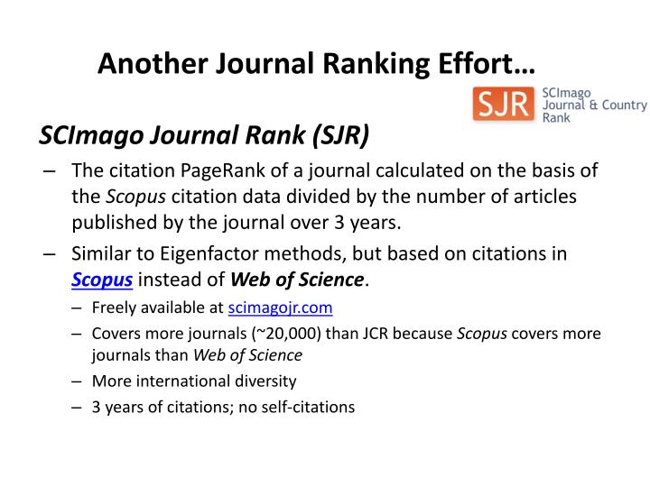 Another Journal Ranking Effort…