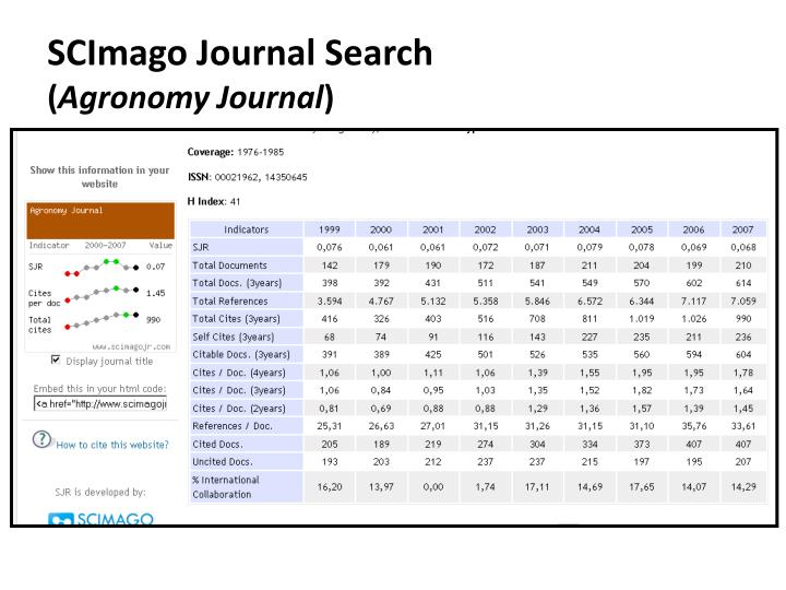 SCImago Journal Search