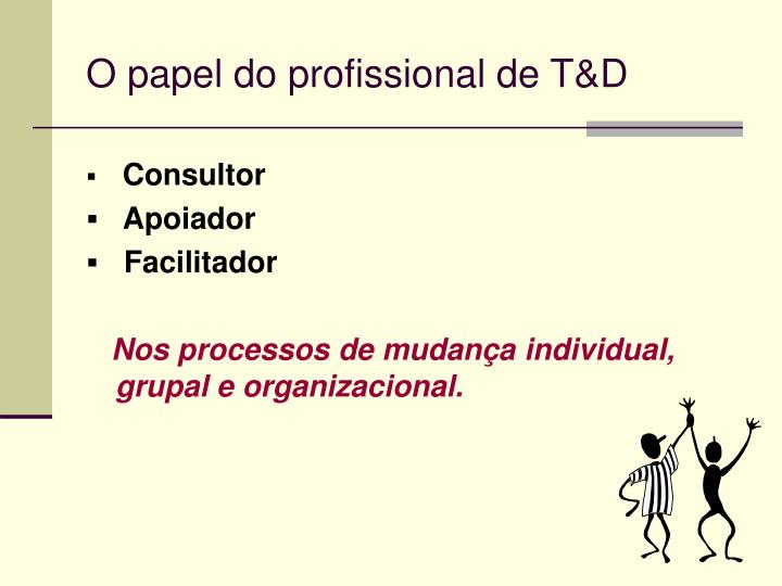 O papel do profissional de T&D