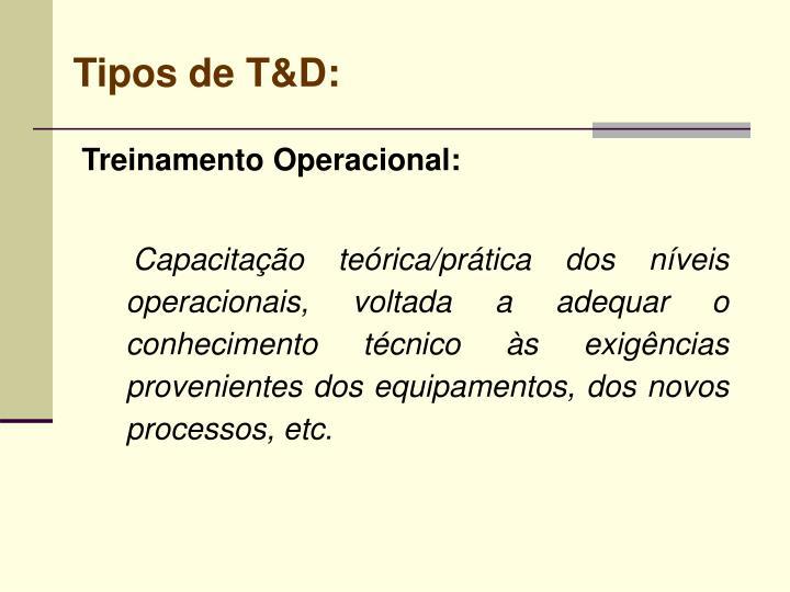 Tipos de T&D: