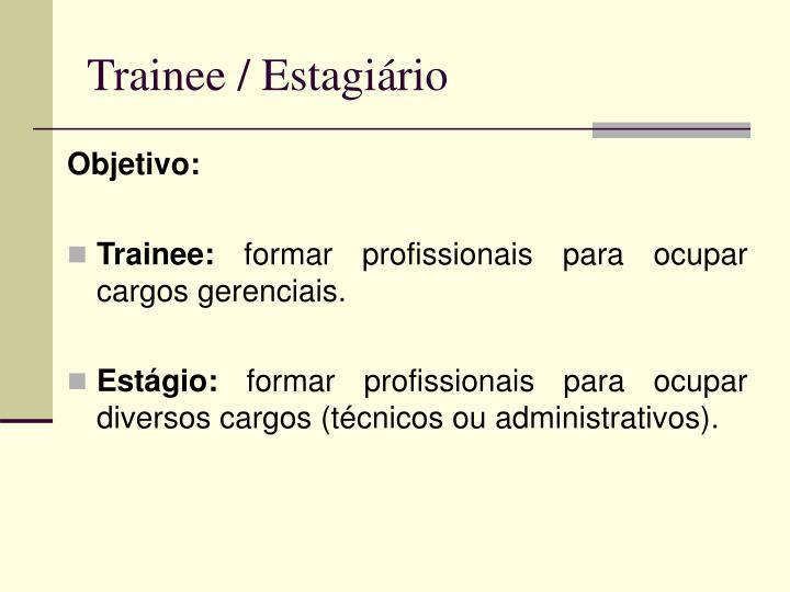Trainee / Estagiário