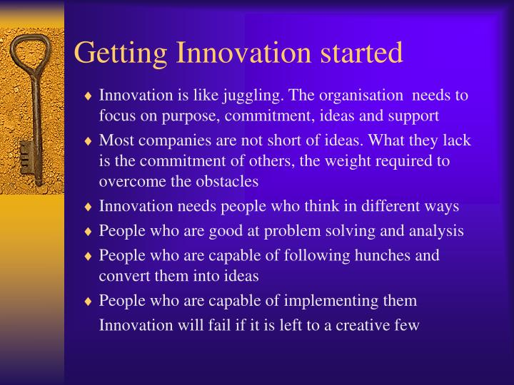 Getting Innovation started