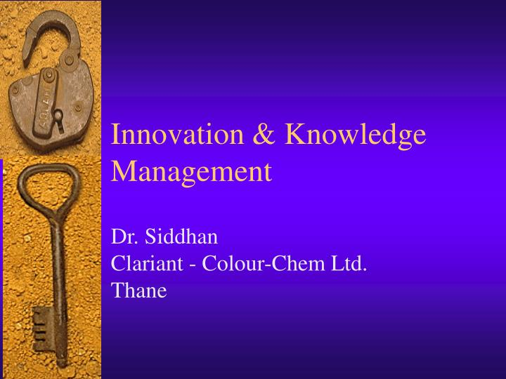 Innovation knowledge management