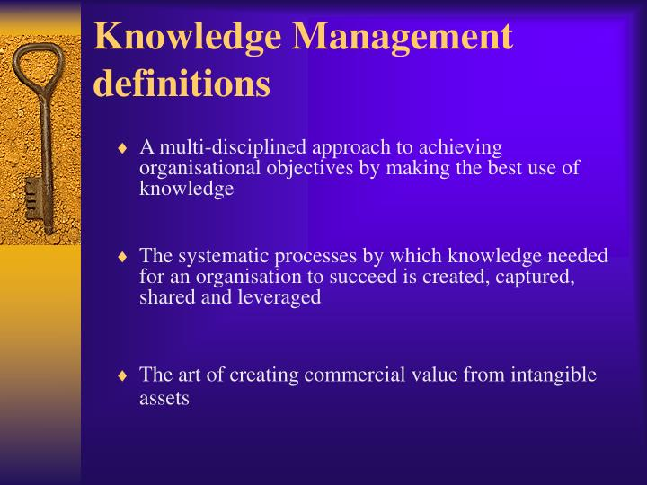 Knowledge Management definitions