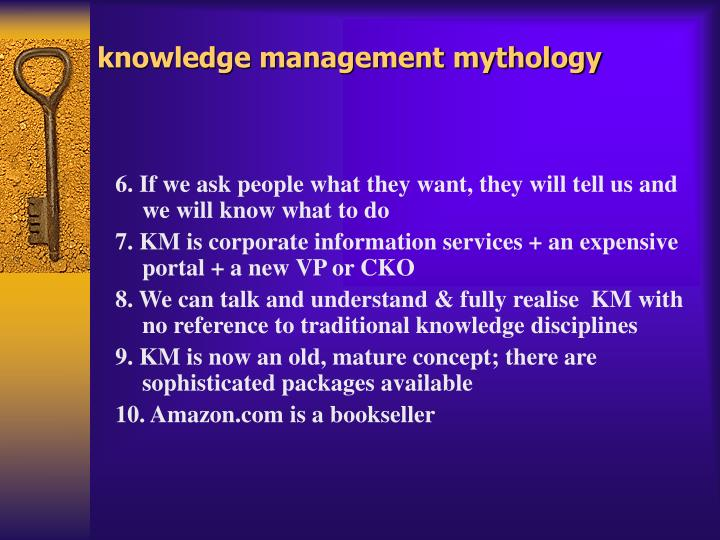knowledge management mythology