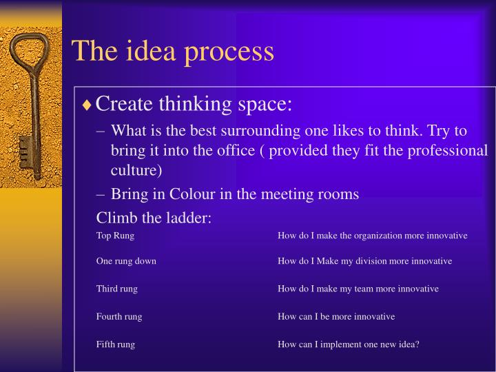 The idea process