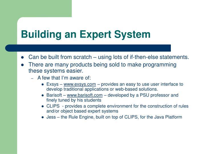 Building an Expert System