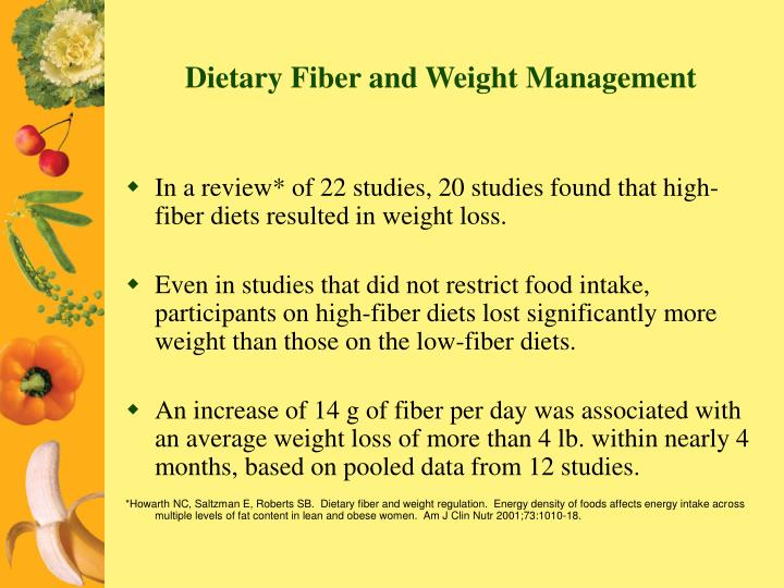 Dietary Fiber and Weight Management