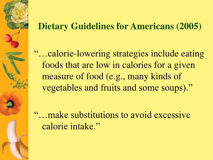 Dietary Guidelines for Americans (2005)