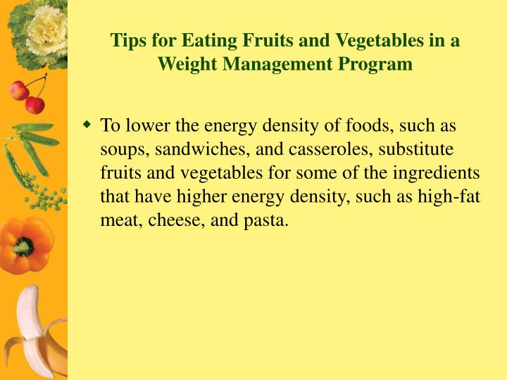 Tips for Eating Fruits and Vegetables in a