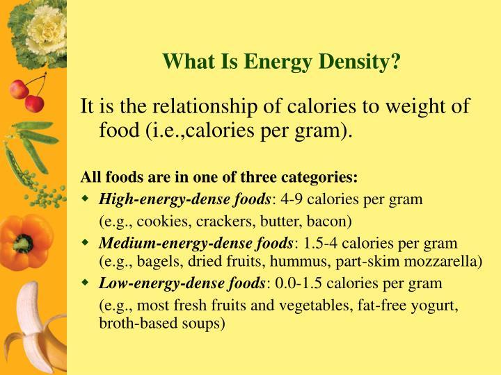 What Is Energy Density?