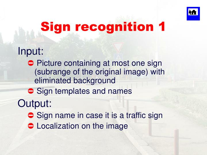Sign recognition 1