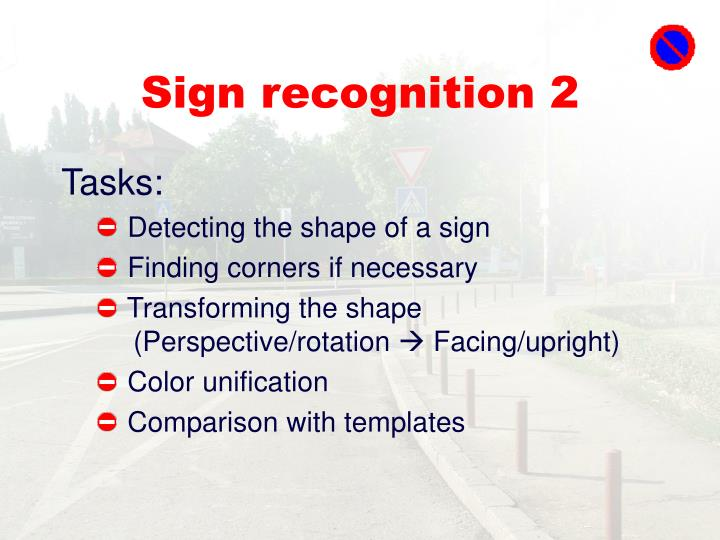 Sign recognition 2