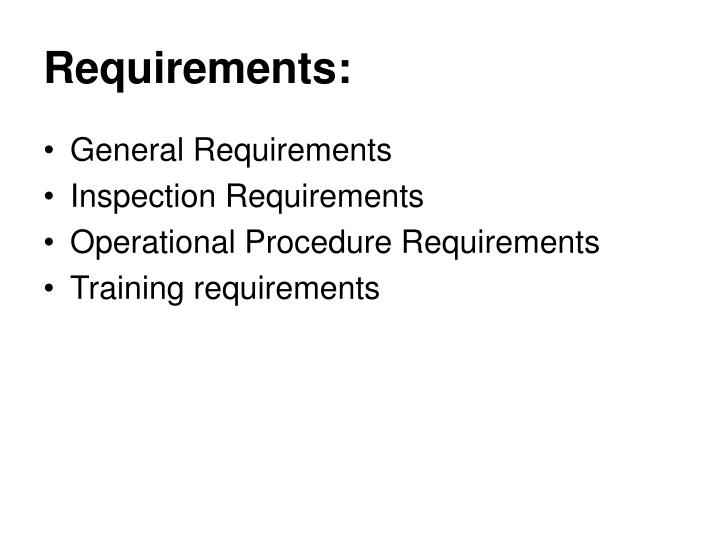 Requirements: