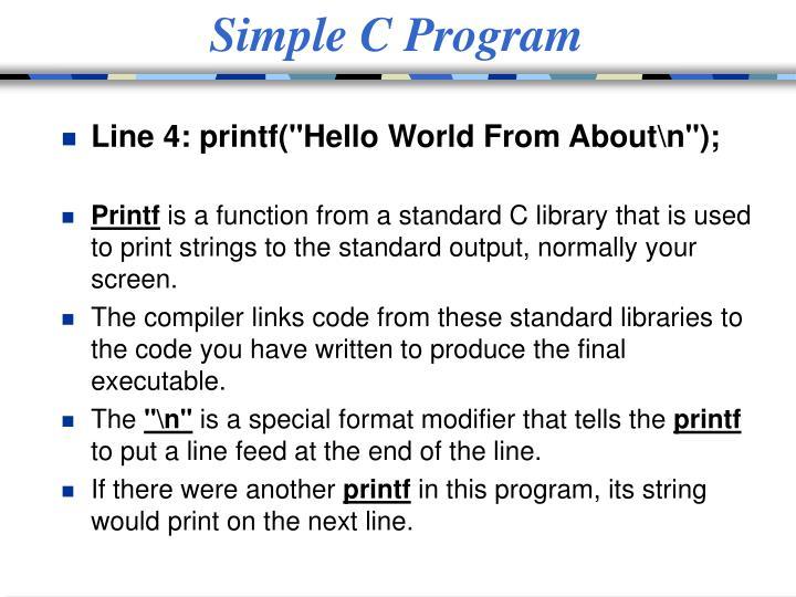 Simple C Program