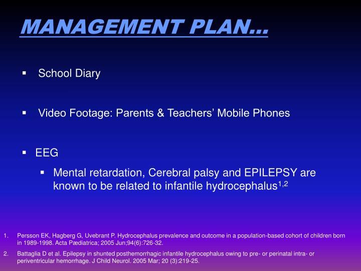 MANAGEMENT PLAN…