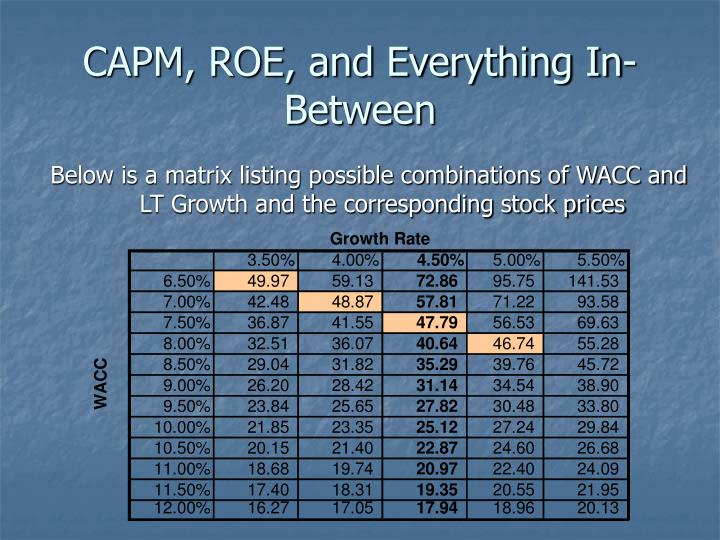 CAPM, ROE, and Everything In-Between
