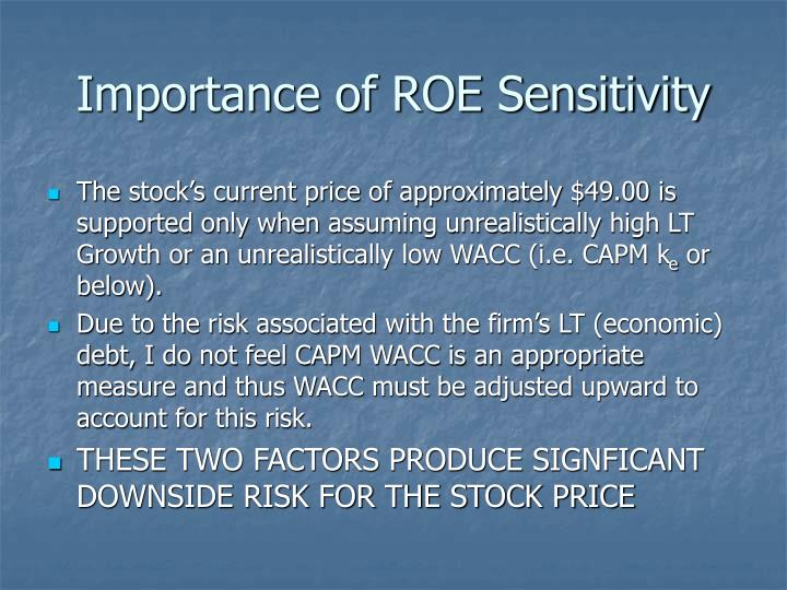 Importance of ROE Sensitivity