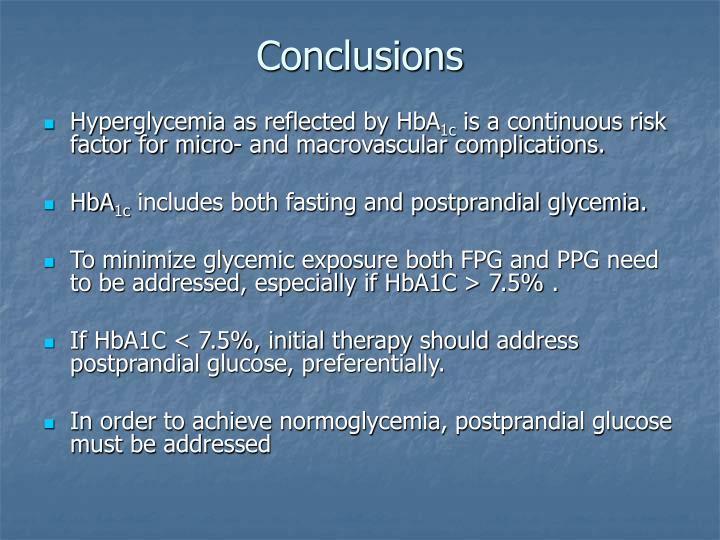 Hyperglycemia as reflected by HbA