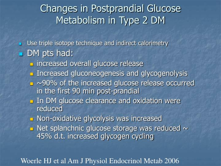 Changes in Postprandial Glucose Metabolism in Type 2 DM