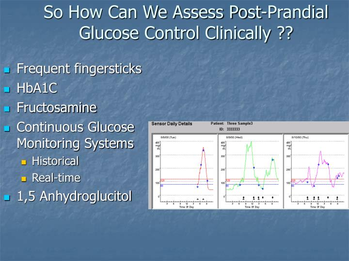 So How Can We Assess Post-Prandial Glucose Control Clinically ??