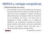 marca y ventajas competitivas12
