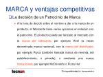 marca y ventajas competitivas14