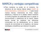 marca y ventajas competitivas21