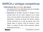 marca y ventajas competitivas27