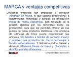 marca y ventajas competitivas28
