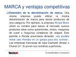 marca y ventajas competitivas29