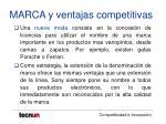 marca y ventajas competitivas30