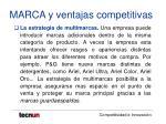 marca y ventajas competitivas31