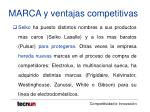 marca y ventajas competitivas32