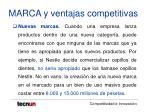 marca y ventajas competitivas33